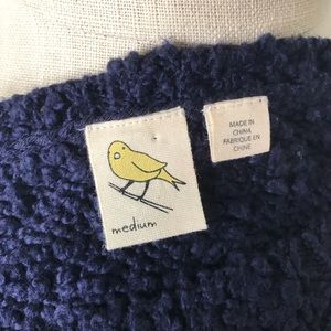 Anthropologie Sweaters - Anthropologie Yellow Bird Navy V Neck Knit Sweater